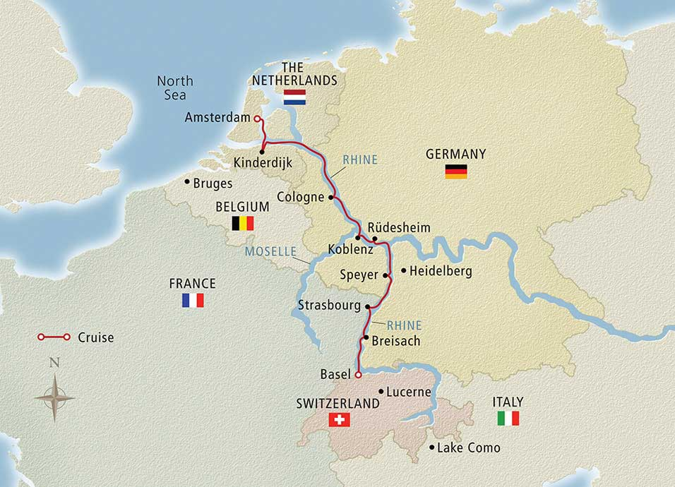Rhine Getaway 2018 Amsterdam to Basel Cruise Overview