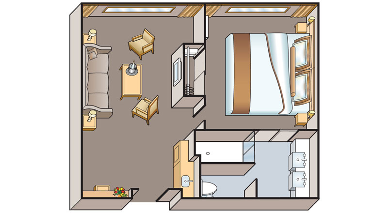 Floorplan of a Suite of a Viking Ra