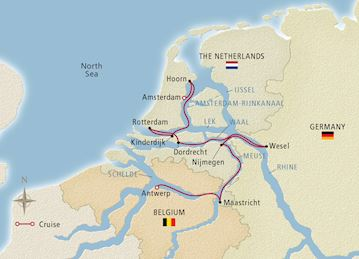 Holland & Belgium 2020 Map