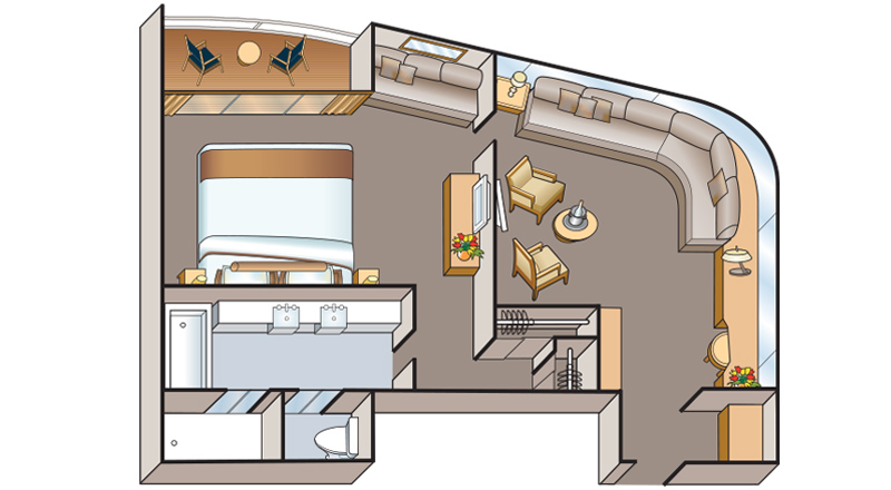 Viking Osiris Explorer Suite Floor plan