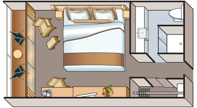 Viking Osiris Veranda Stateroom Floor plan