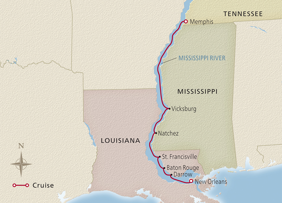 Map of the Heart of the Delta itinerary