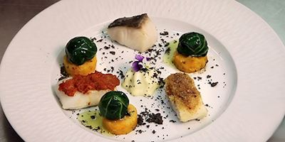 A plated Portuguese fish delecacy