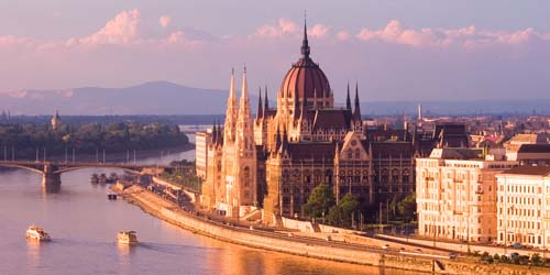 Aerial view of the Budapest Parliament