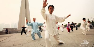 People practicing tai chi