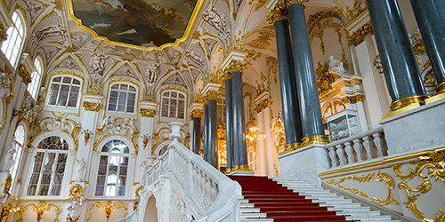 The opulent interior of the Hermitage