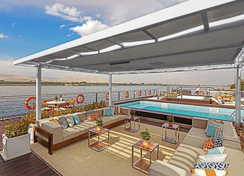 The pool deck of Viking Ra