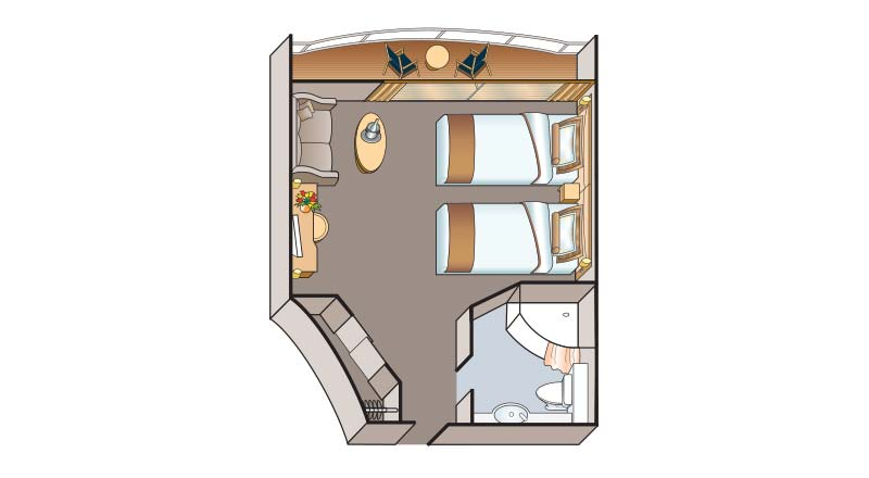 Junior Suite floorplan on Viking Emerald