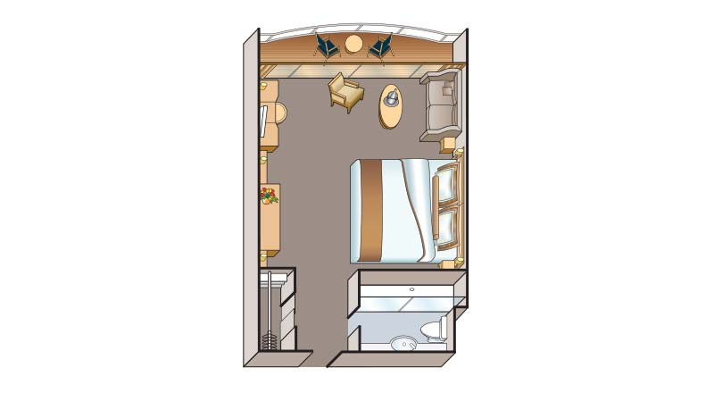 Suite floorplan on Viking Emerald