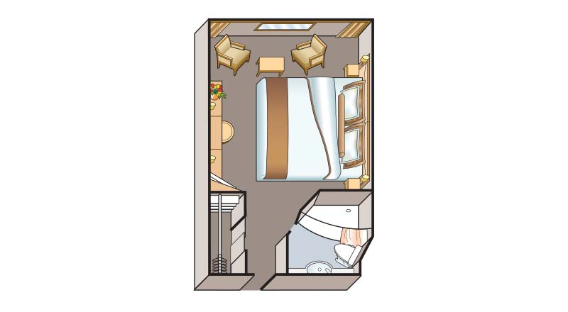 Floorplan of a Deluxe Stateroom