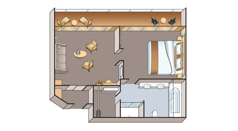 AA Suite floorplan on Viking Rurik