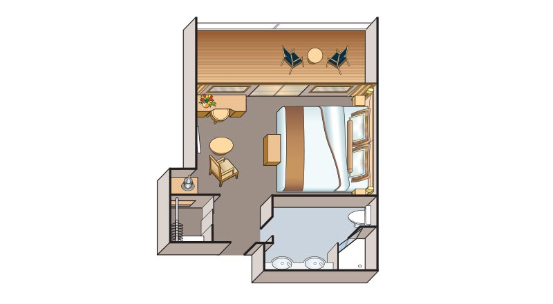 Floorplan of Junior Suite on Viking Russia vessel