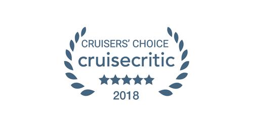 Cruise Critic Cruisers' Choice award winner 2018 logo