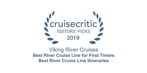 Cruise Critic Editors' Picks Award 2019 for Viking River Cruises